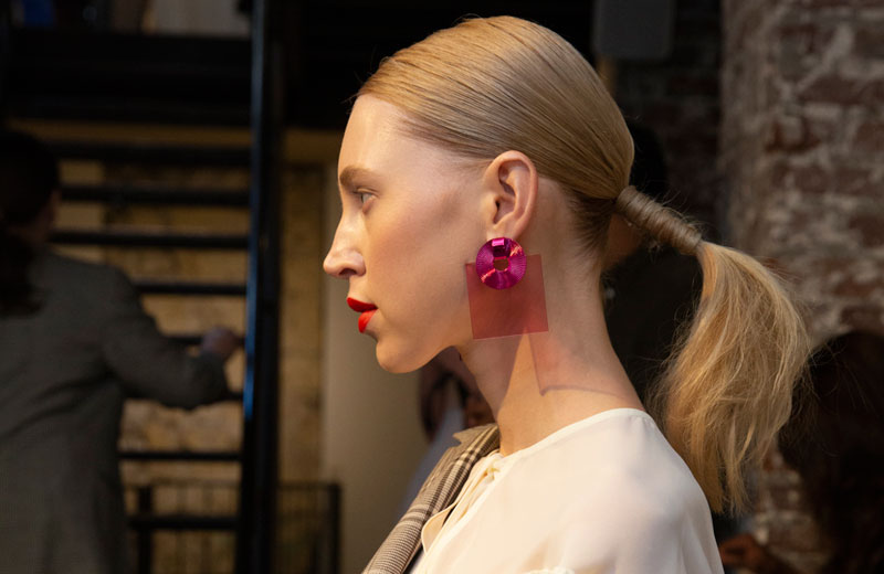 Paris Fashion Week SS19 Braided Cuff Ponytail